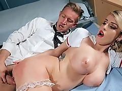 Bareback, Big Ass, Big Cock, Big Tits, Blowjob, Clothed Sex, Couple, Cowgirl, Cum, Cum In Mouth,