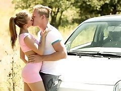 Amateur, Blowjob, Couple, Foreplay, HD, Moaning, Outdoor, Teen,