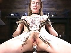 BDSM, Big Tits, Bondage, Brunette, Dildo, Hairy, HD, Punishment, Pussy, Sex Toys,