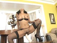 Amazing, Anjanette Astoria, Big Tits, Close Up, Fishnet, Game, High Heels, Lingerie, Masturbation, Model,