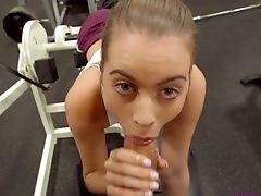 Arsch, Baby, Schönheit, Blowjob, Ohne Titten, Cowgirl, Cumshot, Deepthroating, Im Fitnessstudio, Handjob,