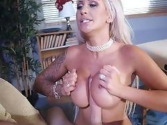 Ass, Big Cock, Big Tits, Blonde, Blowjob, Cowgirl, Cum In Mouth, Cumshot, Doctor, Fake Tits,