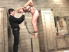 BDSM, Blonde, Boobless, Dylan Ryan, Fingering, Fisting, HD, Spanking, Submissive,