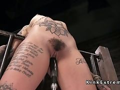 BDSM, Bondage, Dildo, Fetish, Fucking Machine, Solo, Tattoo,