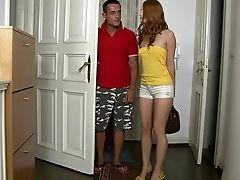 Amateur, Babe, Bedroom, College, Couple, Denisa Heaven, European, Ginger, Hardcore, Legs,