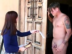 American, Babe, Blowjob, Cute, Holiday, Neighbor, Teen, White,