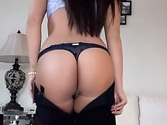 American, Ass, Brunette, Cheating, Couch, Cute, From Behind, Hardcore, Lingerie, POV,