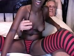 Ass, Bedroom, Bikini, Black, Blowjob, Boyfriend, Clamp, Couple, Glasses, Handjob,