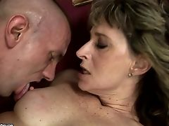 Blowjob, Brunette, Cum In Mouth, Granny, Mature, Old And Young,