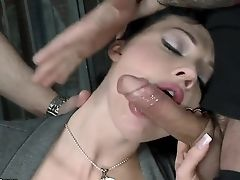 Aletta Ocean, Anal Sex, Big Tits, Blowjob, Brunette, Cute, Double Penetration, HD, Horny, Jail,