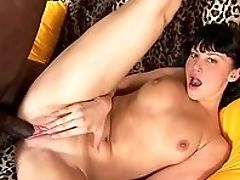 Amateur, Anal Sex, Big Black Cock, Black, Boobless, Brunette, Close Up, Doggystyle, Facial, From Behind,