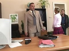 Blonde, Boss, Cloe, Cute, Handjob, Hardcore, Mmf, Natural Tits, Office, Ponytail,