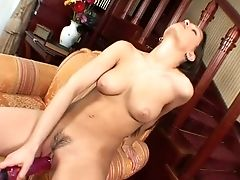 Beauty, Big Tits, Black, Brunette, Couch, Cute, Eve Angel, Horny, Jerking, Masturbation,