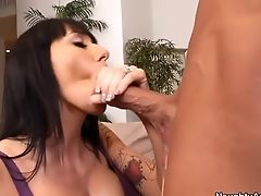 Alia Janine, Blowjob, Brunette, Hardcore, HD, Mature, MILF, Natural Tits, Old And Young,