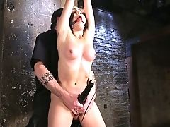 Balls, BDSM, Big Tits, Bondage, Brunette, Dildo, Gagging, Hairy, HD, Lingerie,