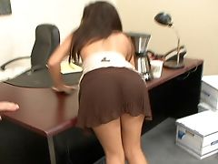 Ann Marie, Babe, Blowjob, Brunette, Office, Quickie, Sexy,