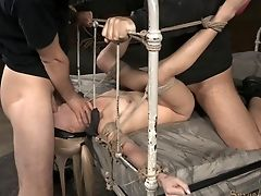 BDSM, Blindfold, Blonde, Bondage, Bound, Cute, Fetish, Rough, Sexy,