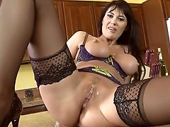 American, Big Tits, Blowjob, Brunette, Eva Karera, From Behind, Fucking, Latina, Lingerie, Masturbation,
