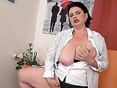 BBW, Big Tits, Brunette, Chubby, Cunt, Fingering, HD, Leather, Masturbation, Mature,