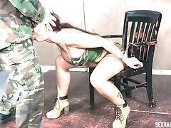 BDSM, Blowjob, Face Fucking, Handcuffed, MILF, White,