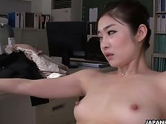 Babe, Cunt, Japanese, Office, Sex Toys,
