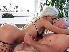 Babe, Blonde, Blowjob, Close Up, Doggystyle, Fishnet, From Behind, Hardcore, HD, Huge Cock,