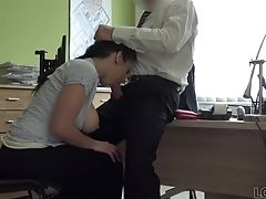Big Cock, Couple, Money, Natural Tits, Office,