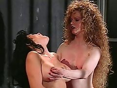 Brunette, Curly, Doggystyle, Long Hair, Tranny,