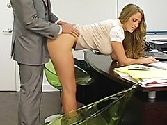 Abby Rode, Ass, Big Tits, Blonde, Desk, From Behind, Long Hair, Office, Secretary, Teasing,