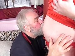 Amateur, Belly, Big Tits, Blowjob, Extreme, First Timer, Grandpa, Kissing, Licking, Old,