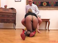Blonde, Blowjob, Clothed Sex, Couple, Cowgirl, Dick, Dirty, Doggystyle, Hardcore, High Heels,