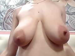 Amateur, Dame, Close-up, Harig, Hangtieten, Webcam,