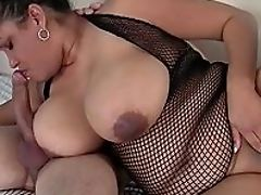 BBW, Big Tits, Black, Blowjob, Brunette, Chubby, Close Up, Dick, Doggystyle, From Behind,