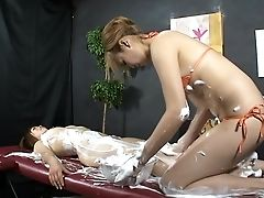 Beauty, Cunnilingus, Fingering, Japanese, Jav, Lesbian, Massage, Moaning, Soapy Massage,