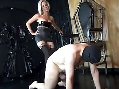 Ballbusting, Blonde, Cute, Fetish, HD, Screaming,