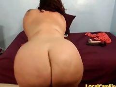 Ass, BBW, Brunette, Jerking, MILF,
