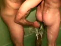 Couple, Mature, Shower,