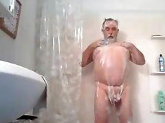 Amateur, Daddies, Grandpa, Jerking, Shower,
