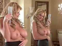 Amazing, Big Tits, Blonde, Drunk, Fishnet, Kelly Madison, Lingerie, Masturbation, MILF, Model,