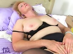 Amateur, Blonde, British, Granny, Mature, Piercing, Shaved Pussy, Spreading,