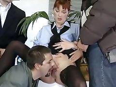 BBW, Big Tits, Brunette, Classic, Cute, Fmm, Pissing, Retro, Threesome, Vintage,