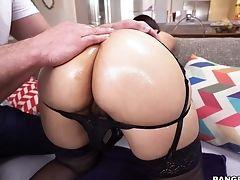 Ass, Big Tits, Blowjob, Brunette, Couch, Doggystyle, Fake Tits, Handjob, Hardcore, HD,