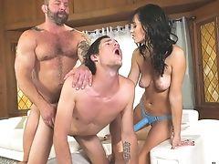 Bisexual, Blowjob, Dick, Felching, Hardcore, Homemade, Horny, MILF, Mmf, Pegging,