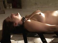 BDSM, Brunette, Clamp, Fetish, Nipples, Pussy, Rough, Submissive, Teen,
