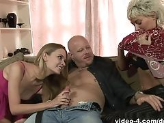 Big Tits, Blowjob, Facial, Michelle Honeywell, MILF, Pornstar, Threesome,