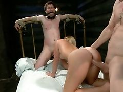 Ashley Edmonds, Blonde, Cuckold, From Behind, Group Sex, Hardcore, Mistress,